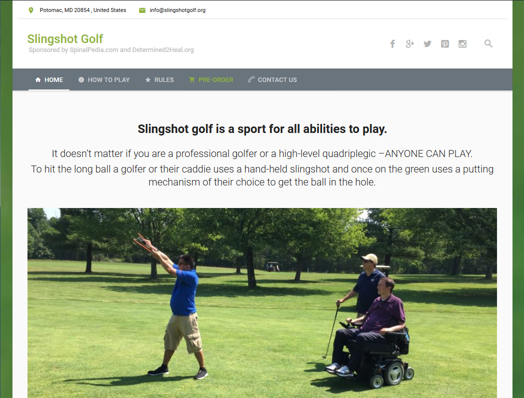 Slingshotgolf.org went live!